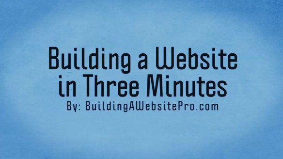 Video - Building a website in three minutes